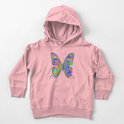 #DeepDream Motley Butterfly Toddler Pullover Hoodie