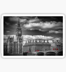 LONDON Big Ben & Red Bus Sticker