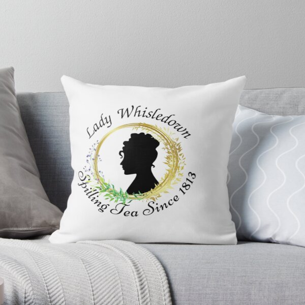 Lady Whisledown Society Paper Spilling The Tea Since 1813 Throw Pillow