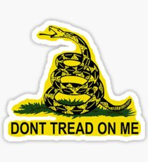 Don't Tread On Me Gadsden Flag American Flag  Sticker