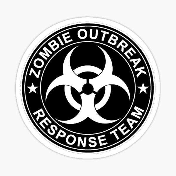 Zombie Outbreak Response Team Logo Sticker