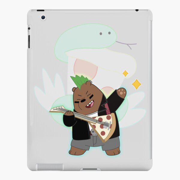 We Bare Bears - Grizzly rocking with the pizza band iPad Snap Case