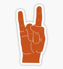 Hook Em Hand Sign Sticker
