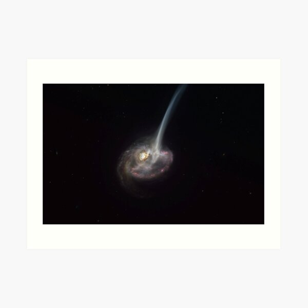 ALMA captures distant colliding galaxy dying out as it loses the ability to form stars Art Print
