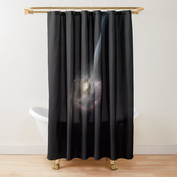 ALMA captures distant colliding galaxy dying out as it loses the ability to form stars Shower Curtain