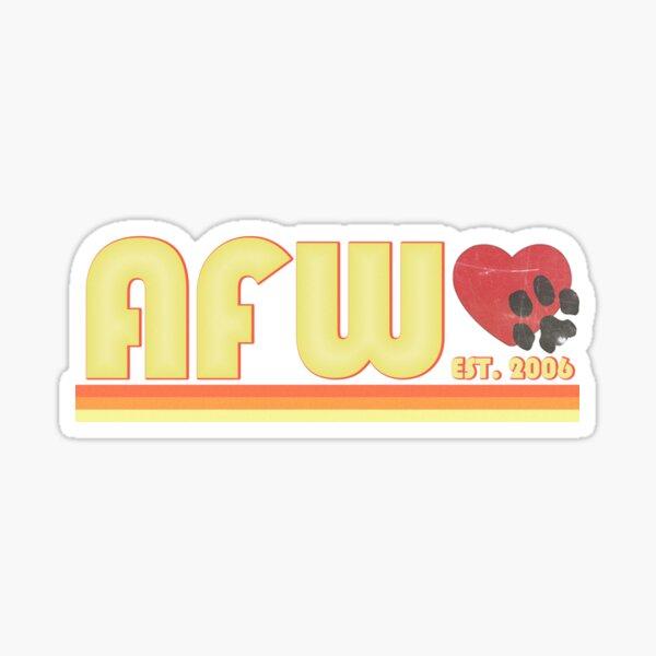 Animal Friends of Westmoreland - Vintage Design Logo - AFW - Animal Shelter Sticker