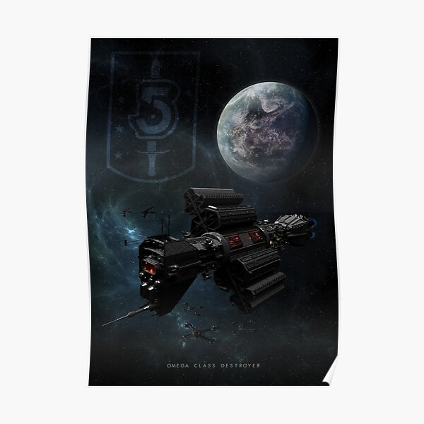 Babylon 5 - Earth Alliance Omega Class Destroyer Poster