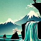 Waterfall blossom dream by Yetiland