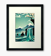 Waterfall blossom dream Framed Print