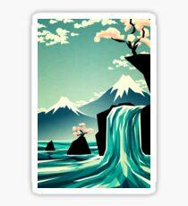 Waterfall blossom dream Sticker