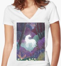 The Last Unicorn Women's Fitted V-Neck T-Shirt