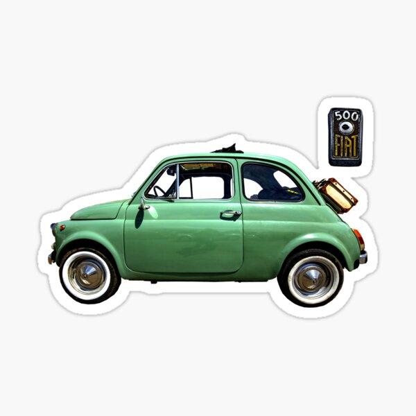 Fiat 500 green 1960 Sticker