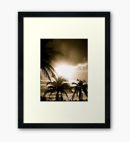Island Wake Up (Sepia) Framed Print