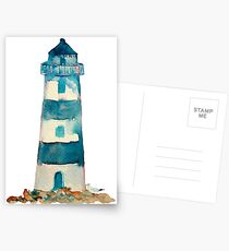 Watercolor Lighthouse Postcards