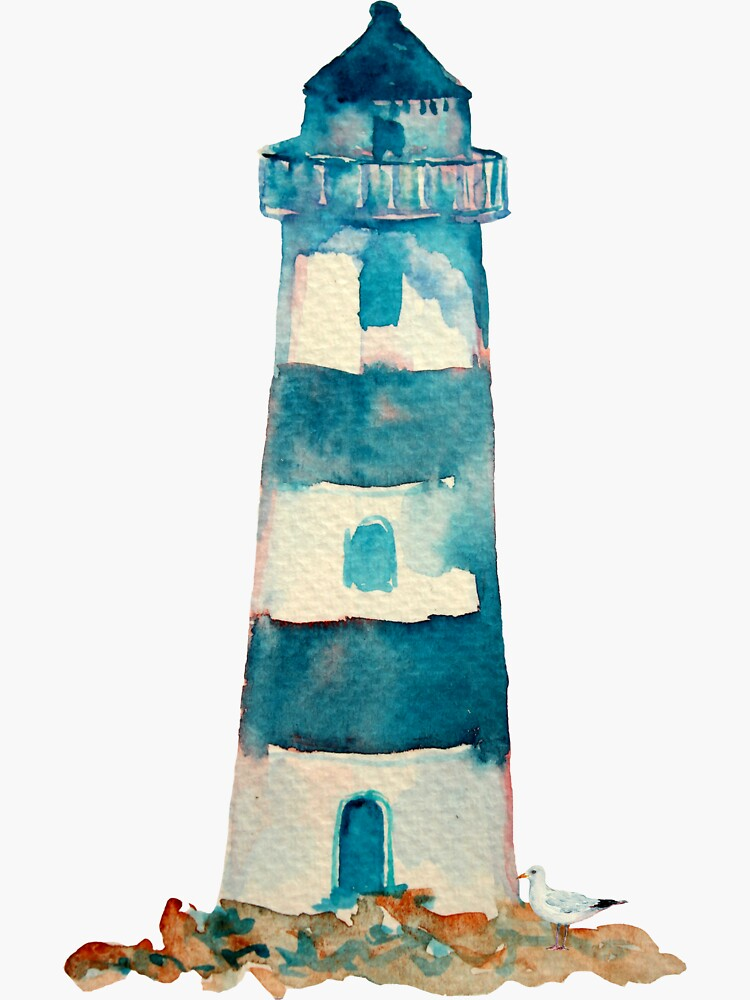 Watercolor Lighthouse by emrdesigns