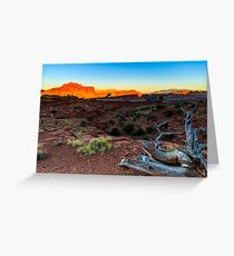Capitol Reef National Park Sunset Greeting Card