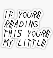 Wenn du das liest (wenig) Sticker