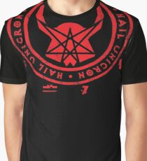 All Hail Unicron - Unigram (Red) Graphic T-Shirt