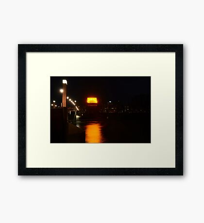 The roof is on fire Framed Print