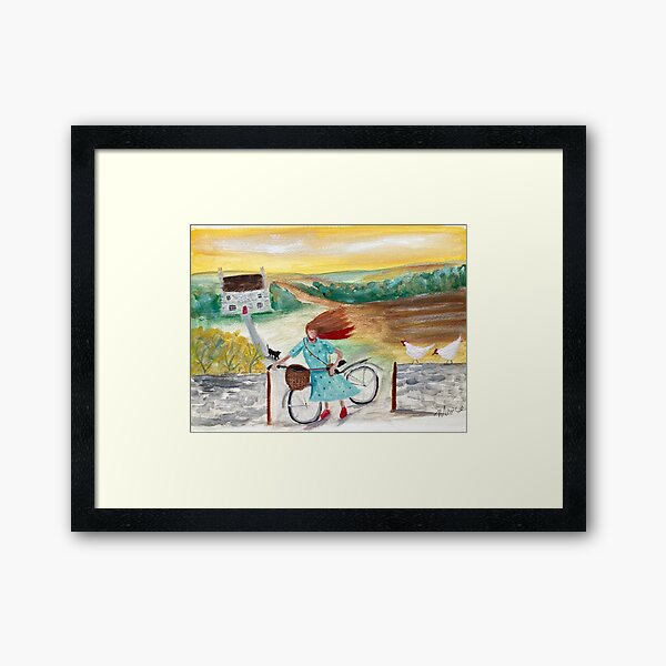 Off into town  Framed Art Print
