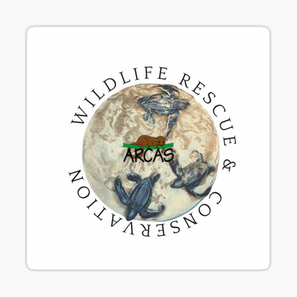 Wildlife Rescue and Conservation. Turtle Sanctuary Hawaii, Guatemala. Sticker