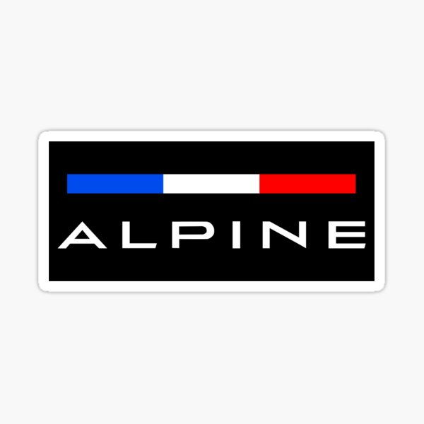Alpine F1 team colors Sticker