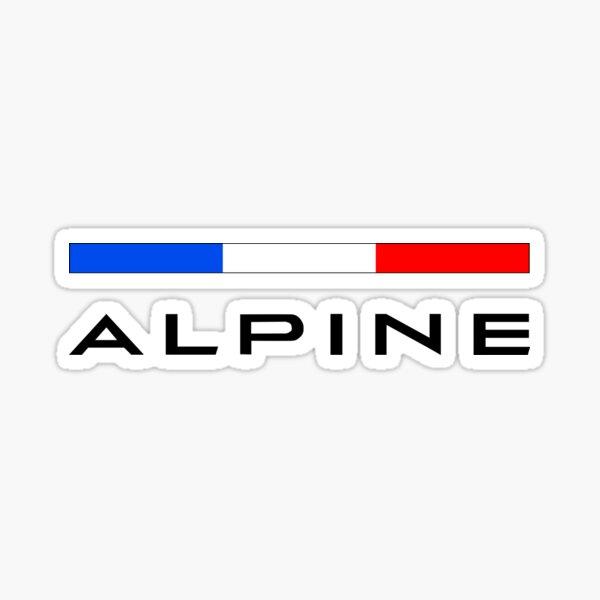 Alpine F1 team colors sticker Sticker