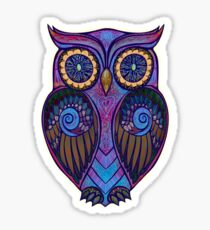 Ornate Owl 9 Sticker