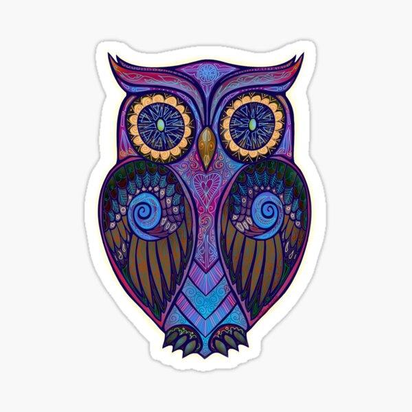Ornate Owl 9 Sticker