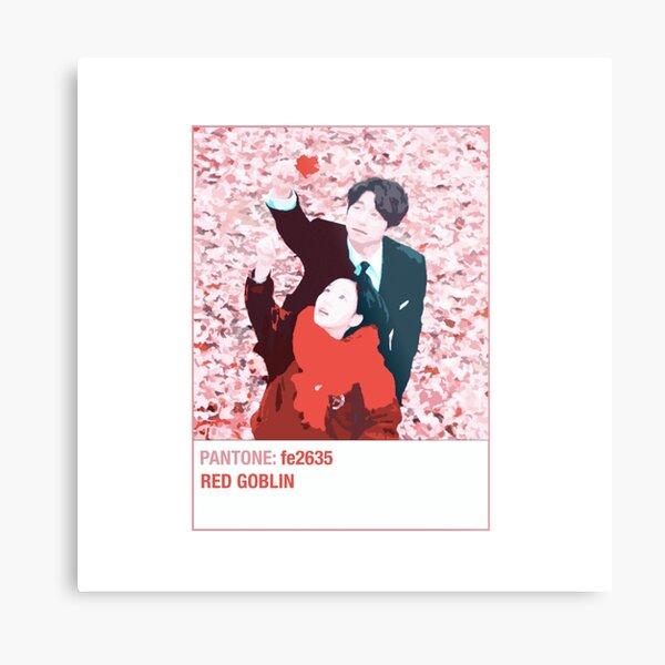 Goblin Gong Yoo Kdrama - Pantone Red Metal Print