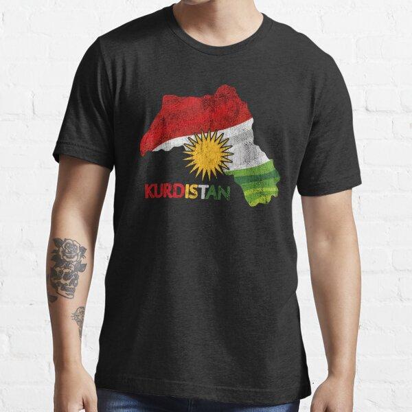 Flaggenkarte von Kurdistan - Karte Kurdistan Essential T-Shirt