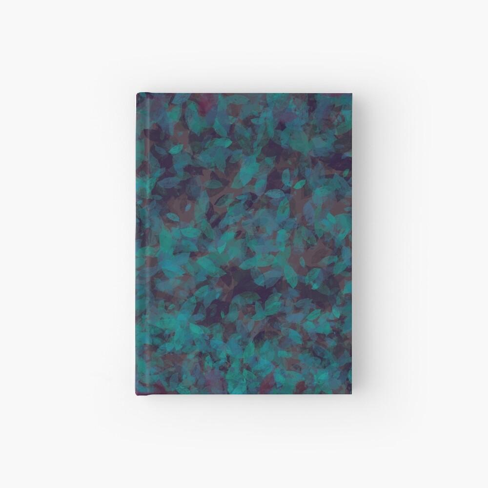 Blue Green Plum Leaves Hardcover Journal