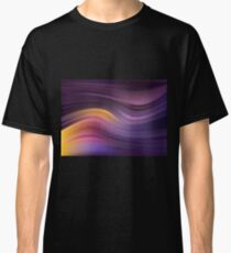 Abstract modern wavy background elegant wave Classic T-Shirt