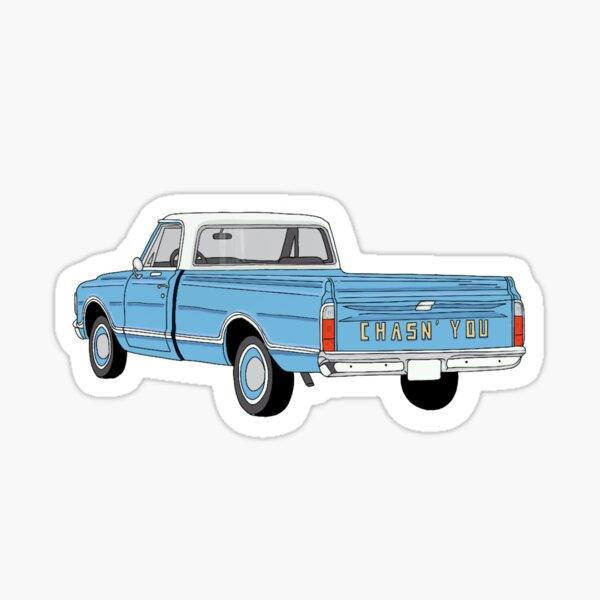 Chasn' You Truck Sticker