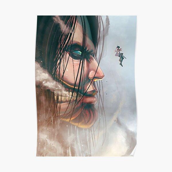 Design Mikasa X Eren Poster