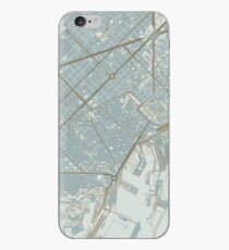 Barcelona Map (Winter) iPhone Case