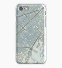 Barcelona Map (Winter) iPhone Case/Skin