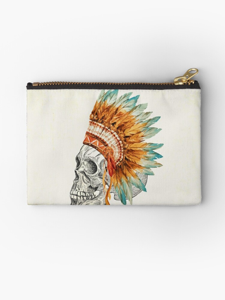 Apache Skullhead indians tribal feather Graphic T-shirt by CarlosV
