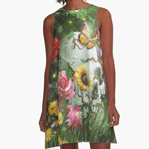 The Beautiful Circle of Life - Regenerative Life from Death Design A-Line Dress