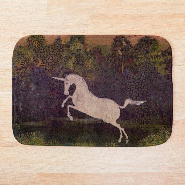 Unicorn in Tapestry Style Bath Mat