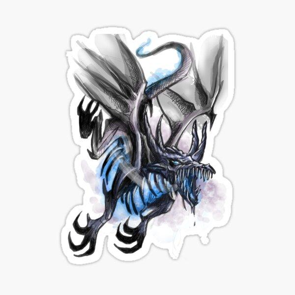 dragon feu bleu Sticker
