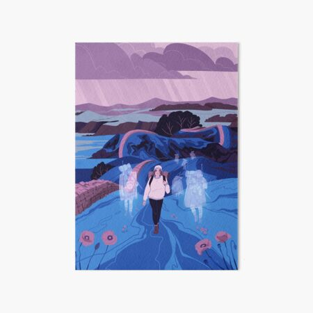 Walk Alone Art Board Print