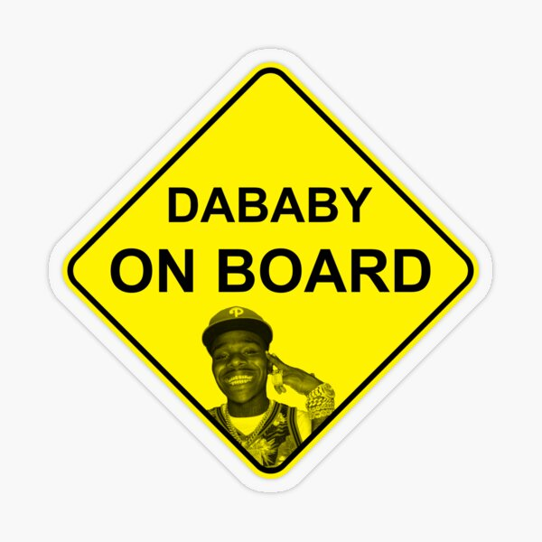 DaBaby on Board Transparent Sticker