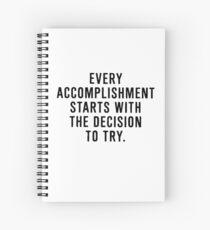 Cuaderno de espiral Motivación para lograr