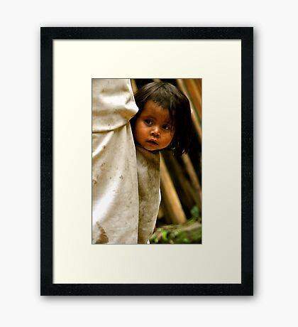 Timid Curiosity Framed Print