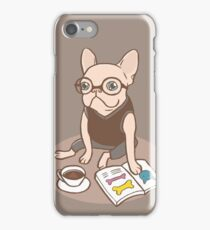 The Hipster Reader iPhone Case/Skin