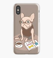 The Hipster Reader iPhone Case