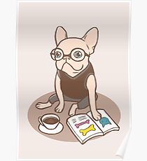 The Hipster Reader Poster