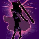 Super Smash Bros. Pink Female Corrin Silhouette by jewlecho