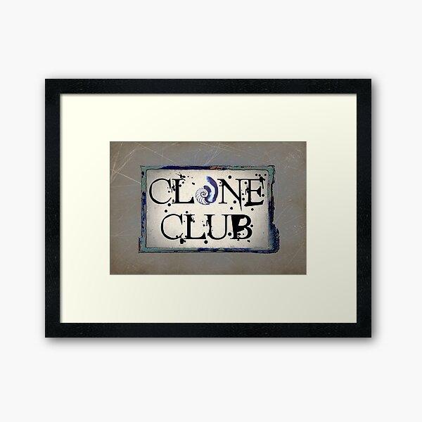 Orphan Black Clone Club featuring Cosima's Tattoo  Framed Art Print